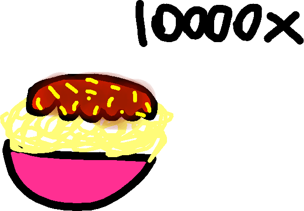 Spagetti (tomato sauce) - drawing