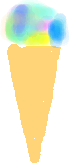 Ice-Cream Cone - Rainbow