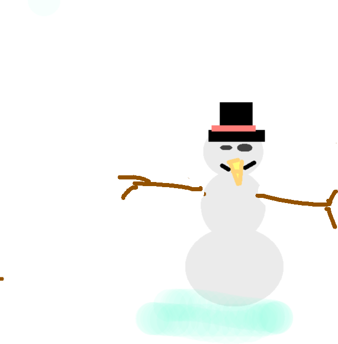 snow man - drawing copy