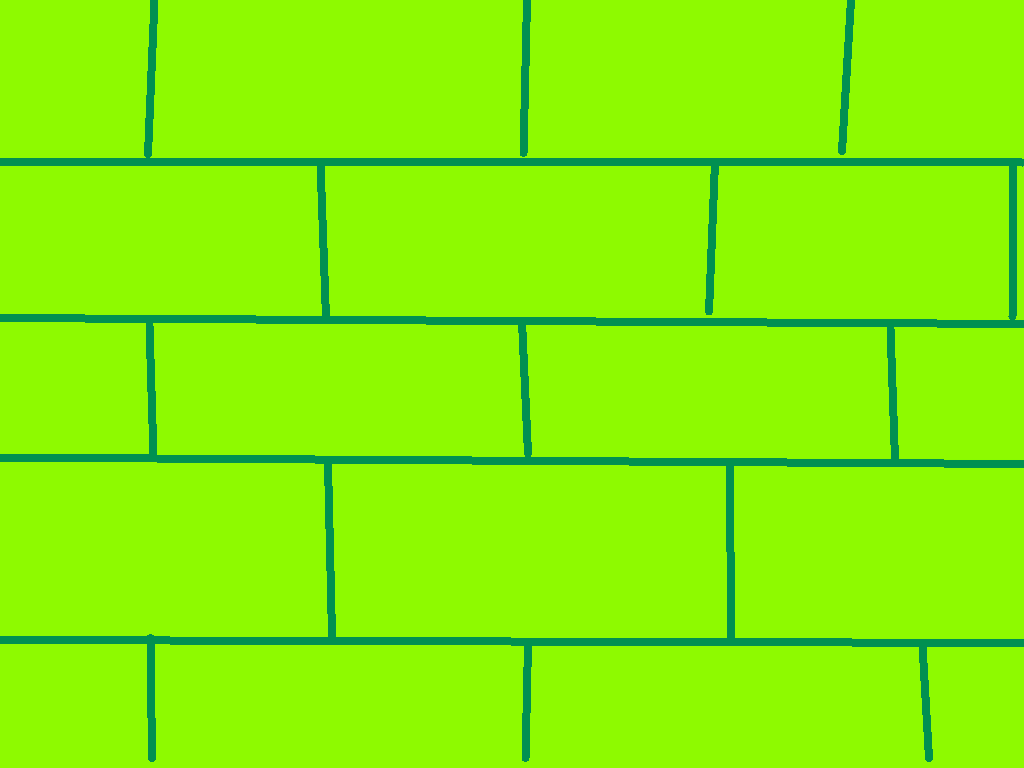 background scene - green brick wall