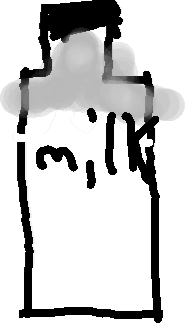 milk - drawing
