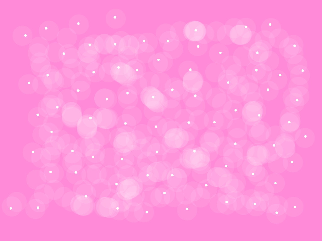 background scene - pink stars and dots
