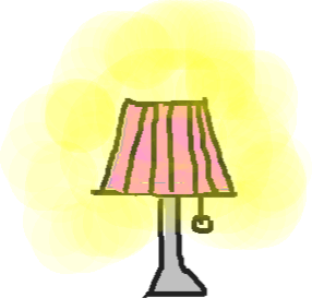drawing5 - lamp lit