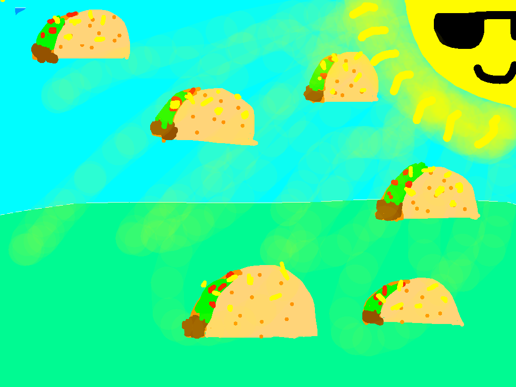 background scene - flat land with tacos