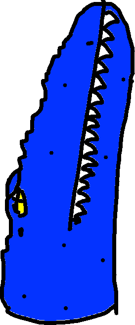 Mosasaur Bite - drawing