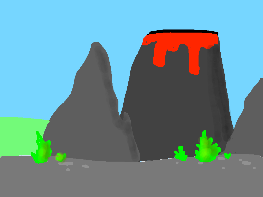 background scene - Mysterious Volcano
