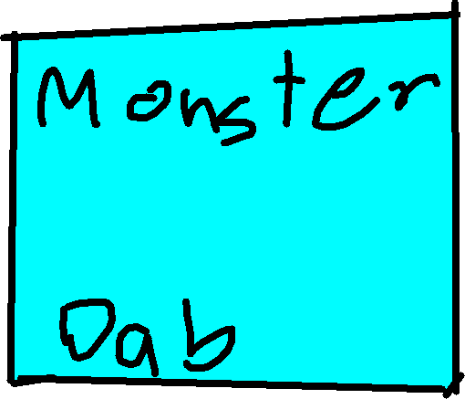 Monster Button - drawing