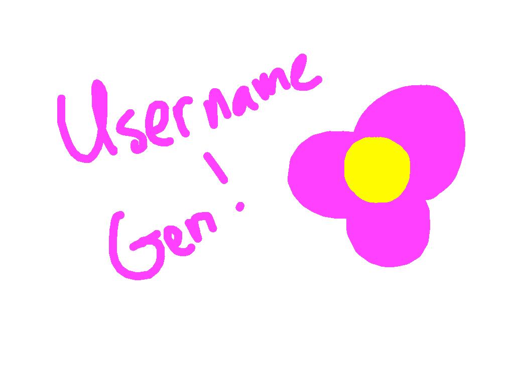 Username Generator! | Tynker