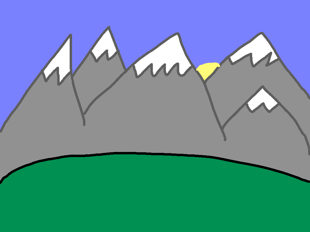 background scene - mountains