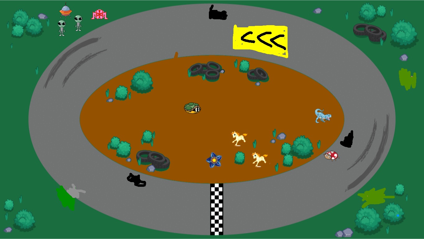 background scene - race track