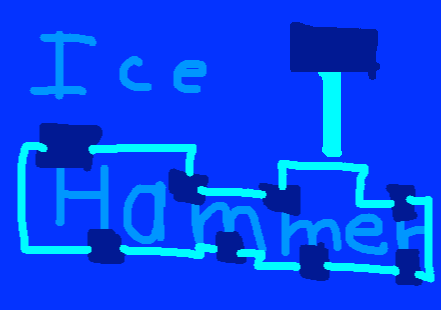 Ice Hammer Button - drawing