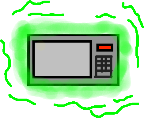 drawing - illegal microwave