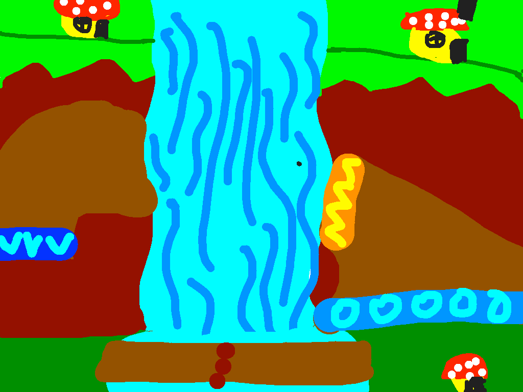 background scene - Toad Falls