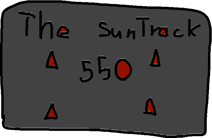 The sun track sign - drawing