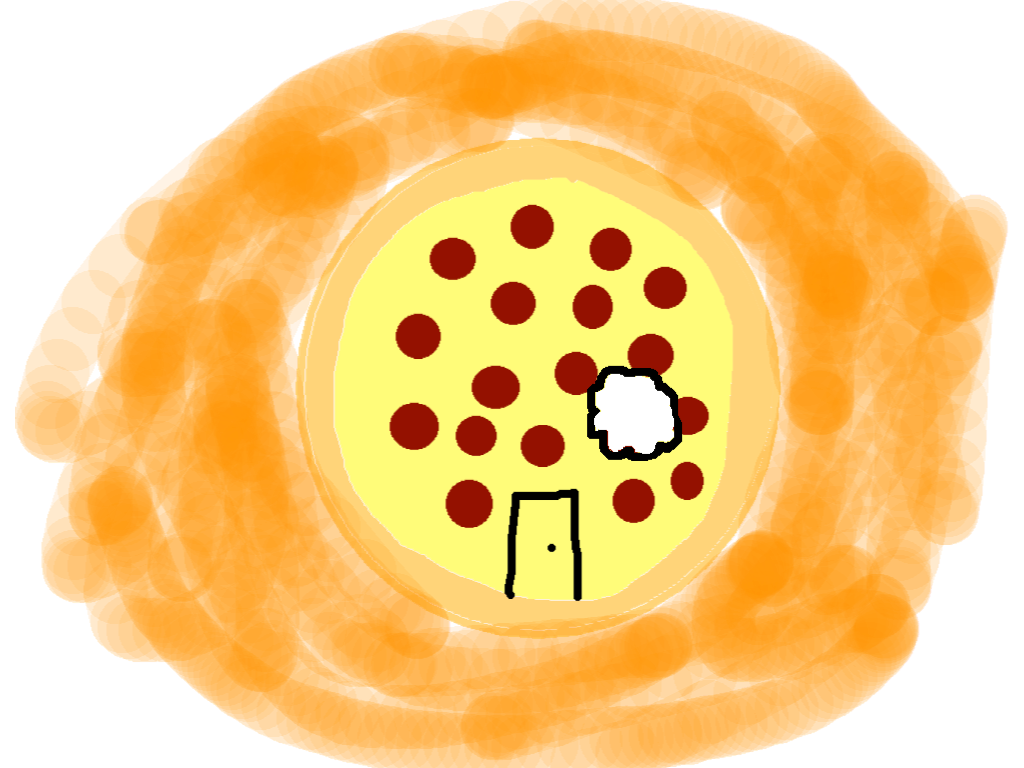 background scene - Pizza Land-bitten
