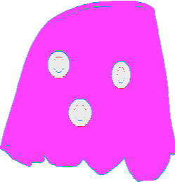 Pink Ghost - drawing