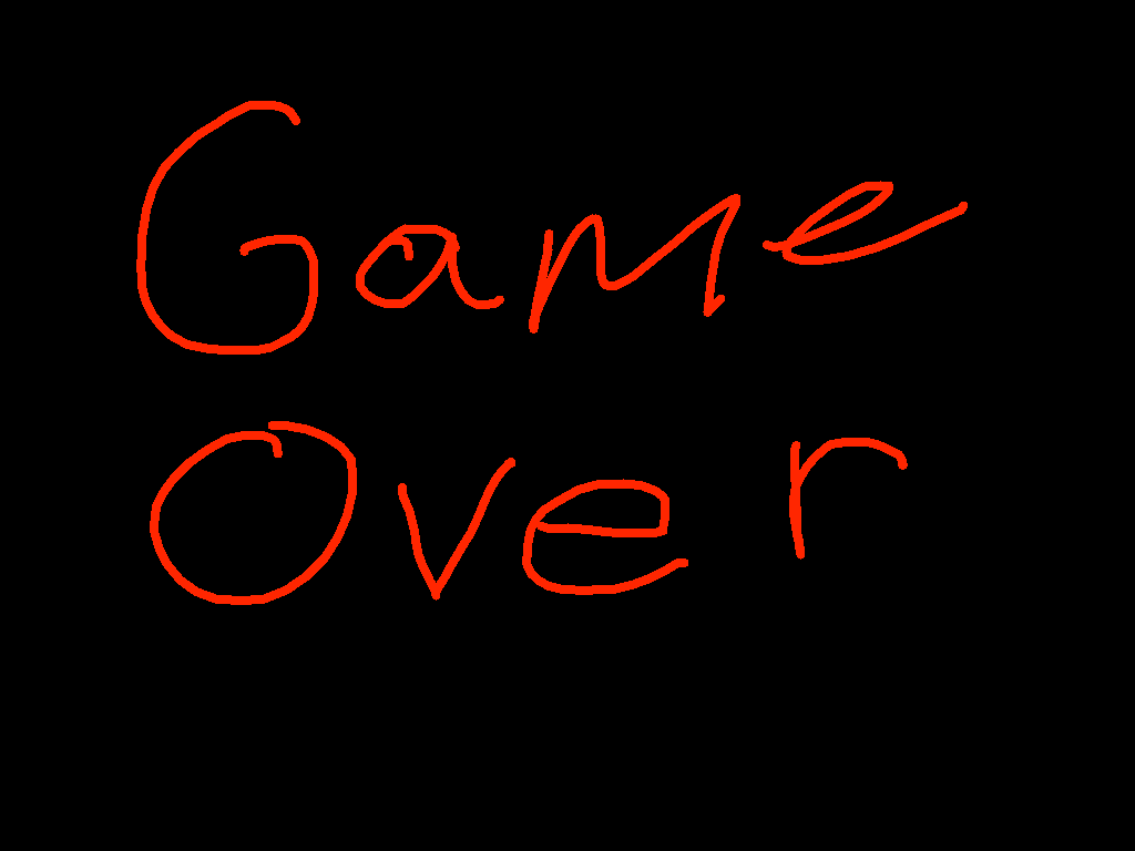 drawing - game over