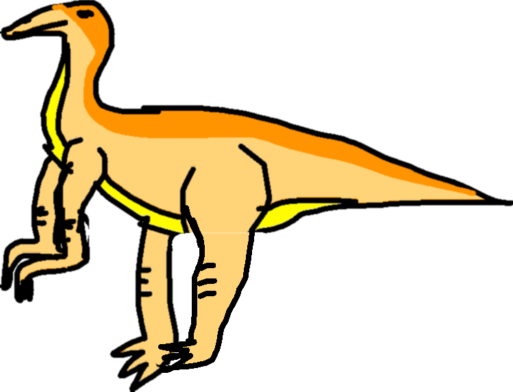 Gallimimus Kick - drawing copy