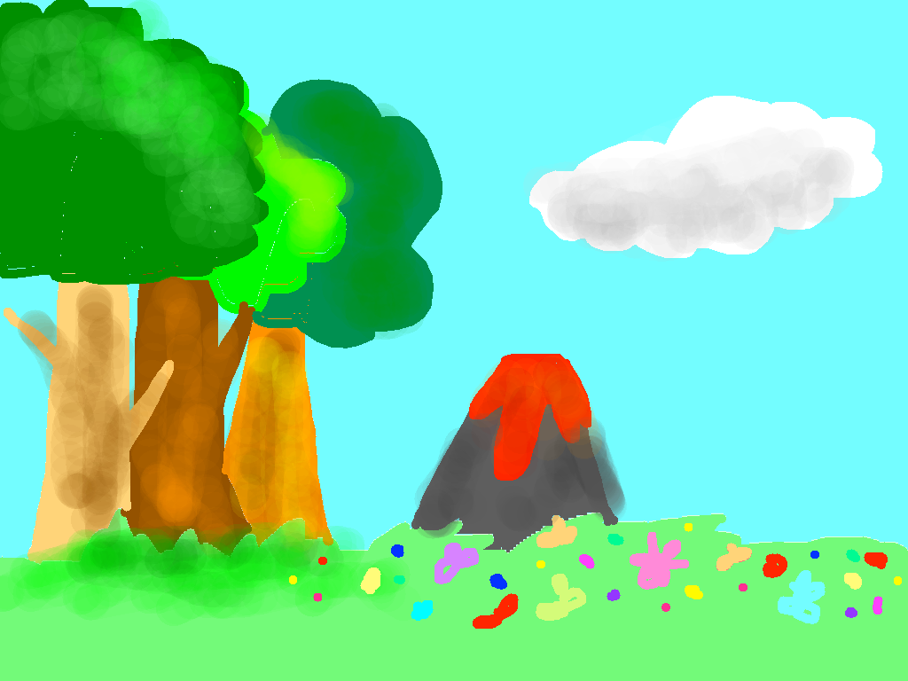 background scene - Valcanic Forest