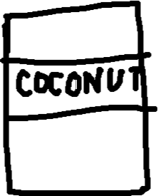 coconut can - drawing