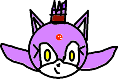 Blaze the Cat - drawing