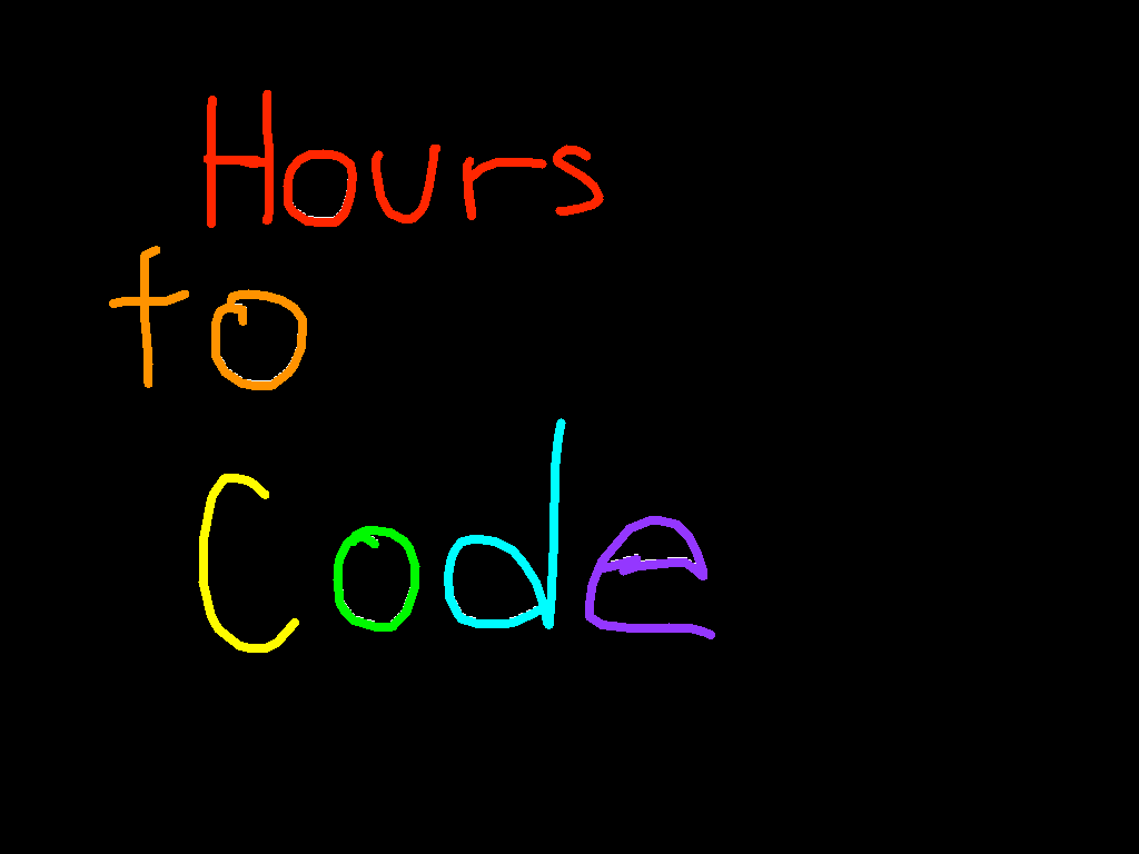 background scene - Hours to code