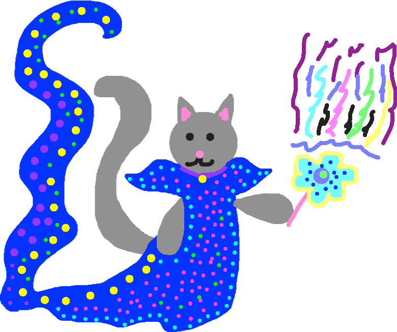 Wizard cat - drawing