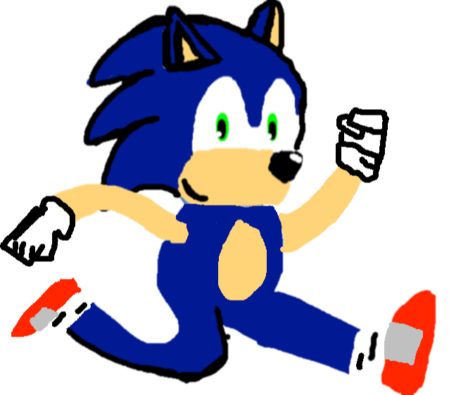 badly drawn sonic - Walking1
