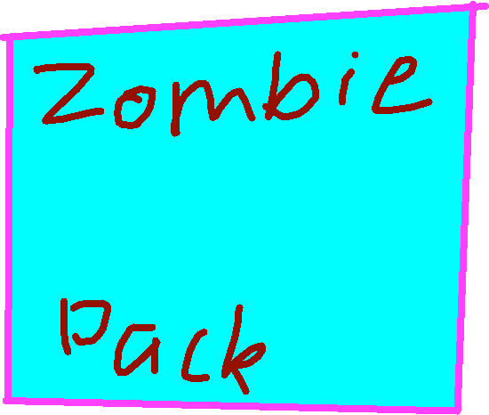 Zombie pack button - drawing