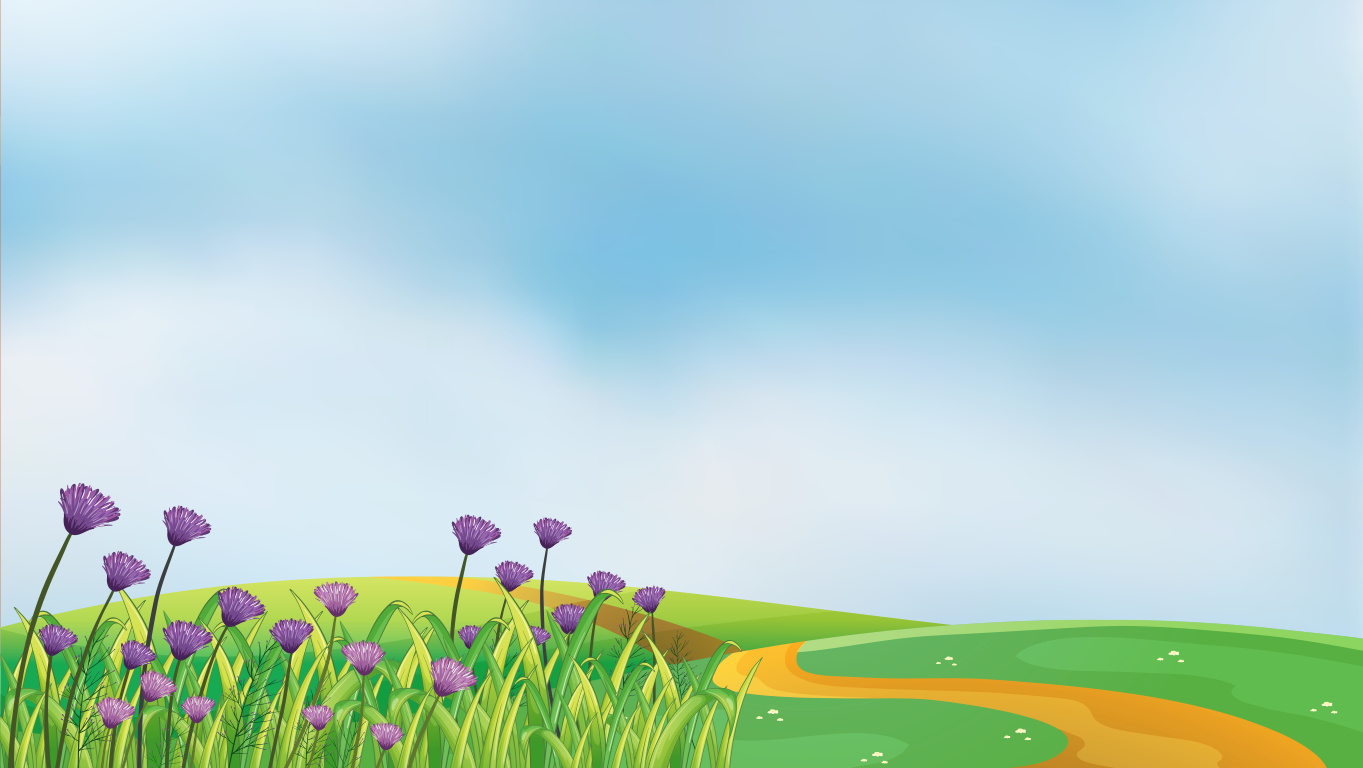 background scene - spring card