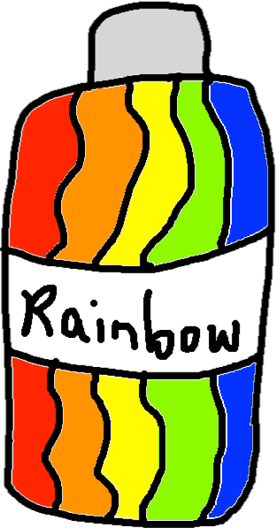 rainbow dye - drawing