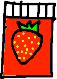 strawberry jelly jar - drawing