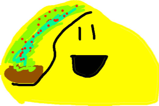 drawing - happy taco