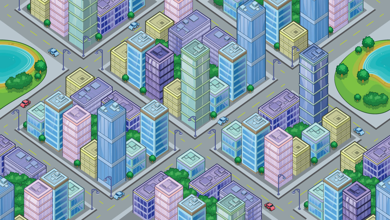 background scene - City Overhead