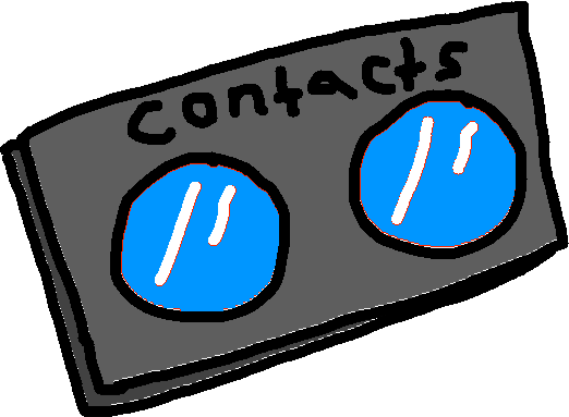 contacts blue - drawing