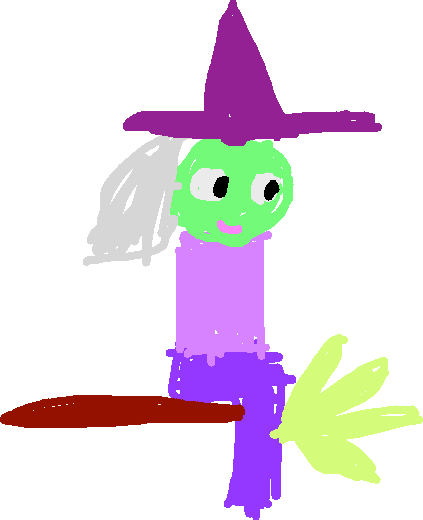 witch - drawing