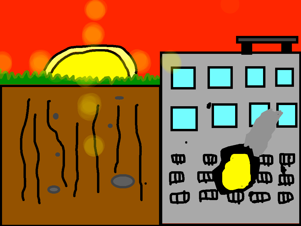 background scene - land bomb first