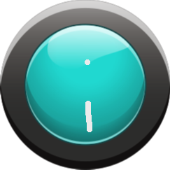 Cyan Button On - Cyan Button On