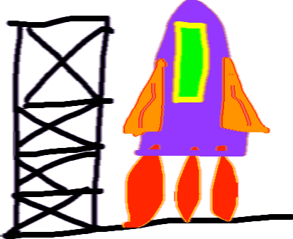 rocket - drawing