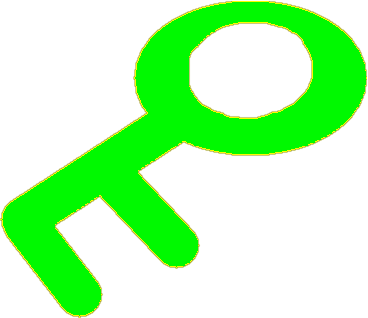 key to door - drawing