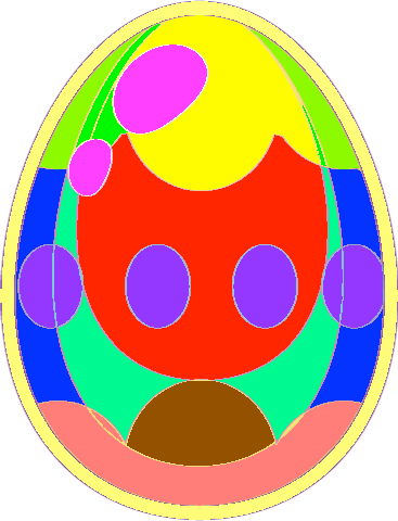 Egg - purple yellow egg copy