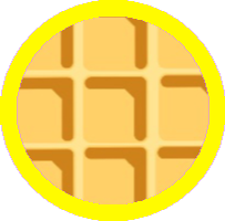 Coin - Gold Waffle Coin