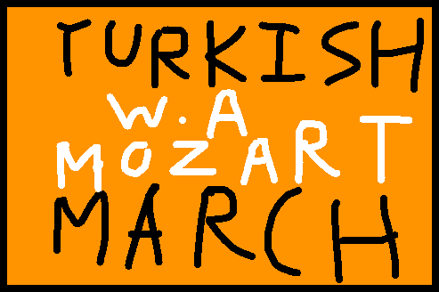 Turkish March - drawing