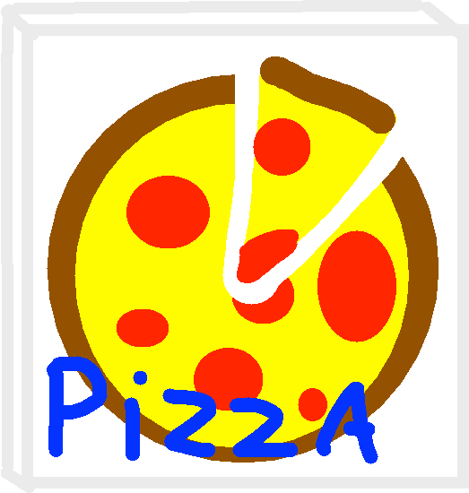 pizza - drawing
