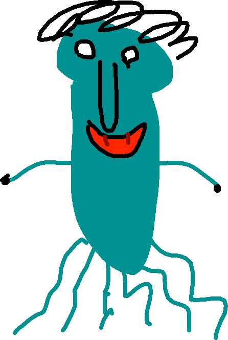 squidward - drawing