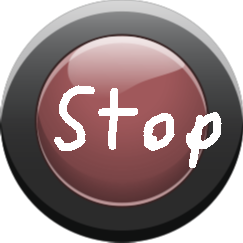 Stop - red button off