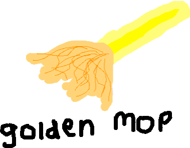 golden mop - drawing