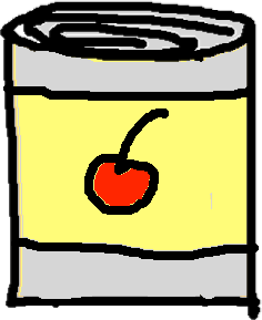 cherry can - drawing