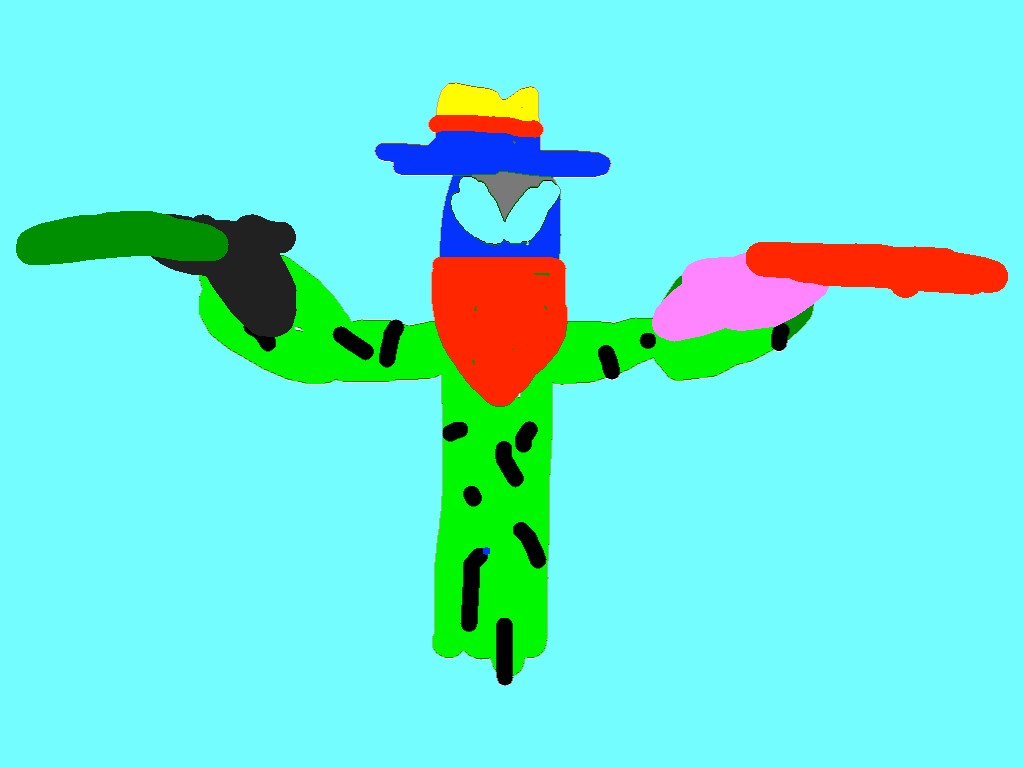 The Cacti Bandit - drawing