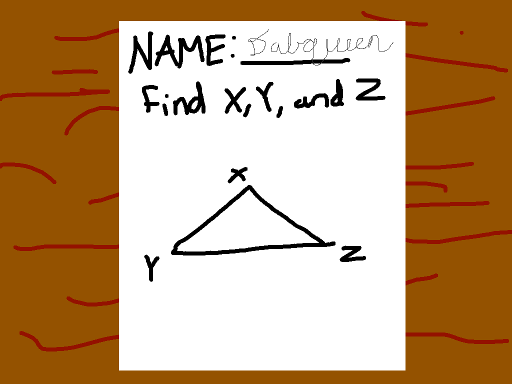 background scene - Find X, Y, and Z